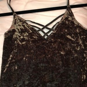 American Eagle Outfitters Tops - Velvet tank top